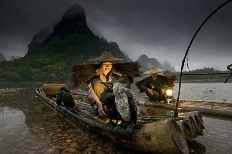 Night Fishermen, Li River, Guangxi, China (© Art Wolfe)